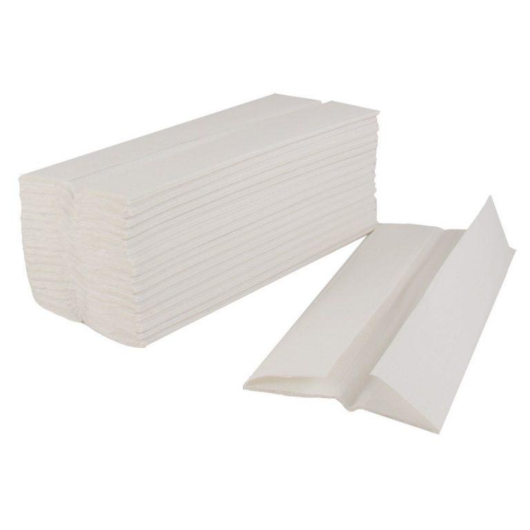 White Hand Towels C-Fold